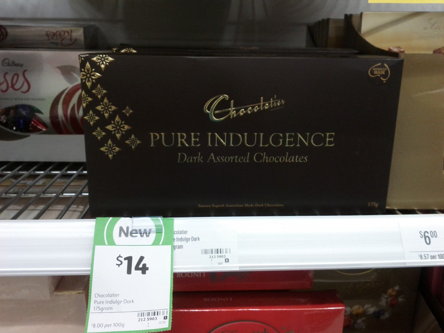 Chocolatier 175g Pure Indulgence Dark Assorted Chocolates