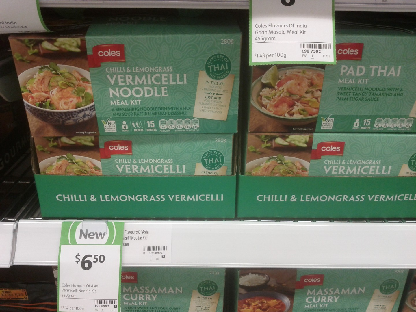 Coles 280g Vermicelli Noodle Meal Kit
