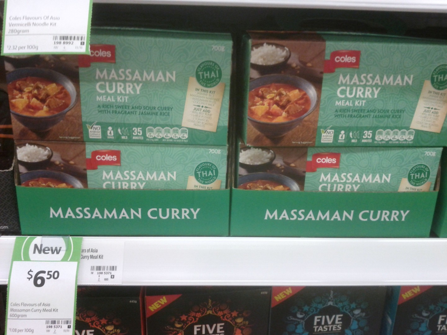 Coles 600g Massaman Curry Meal Kit
