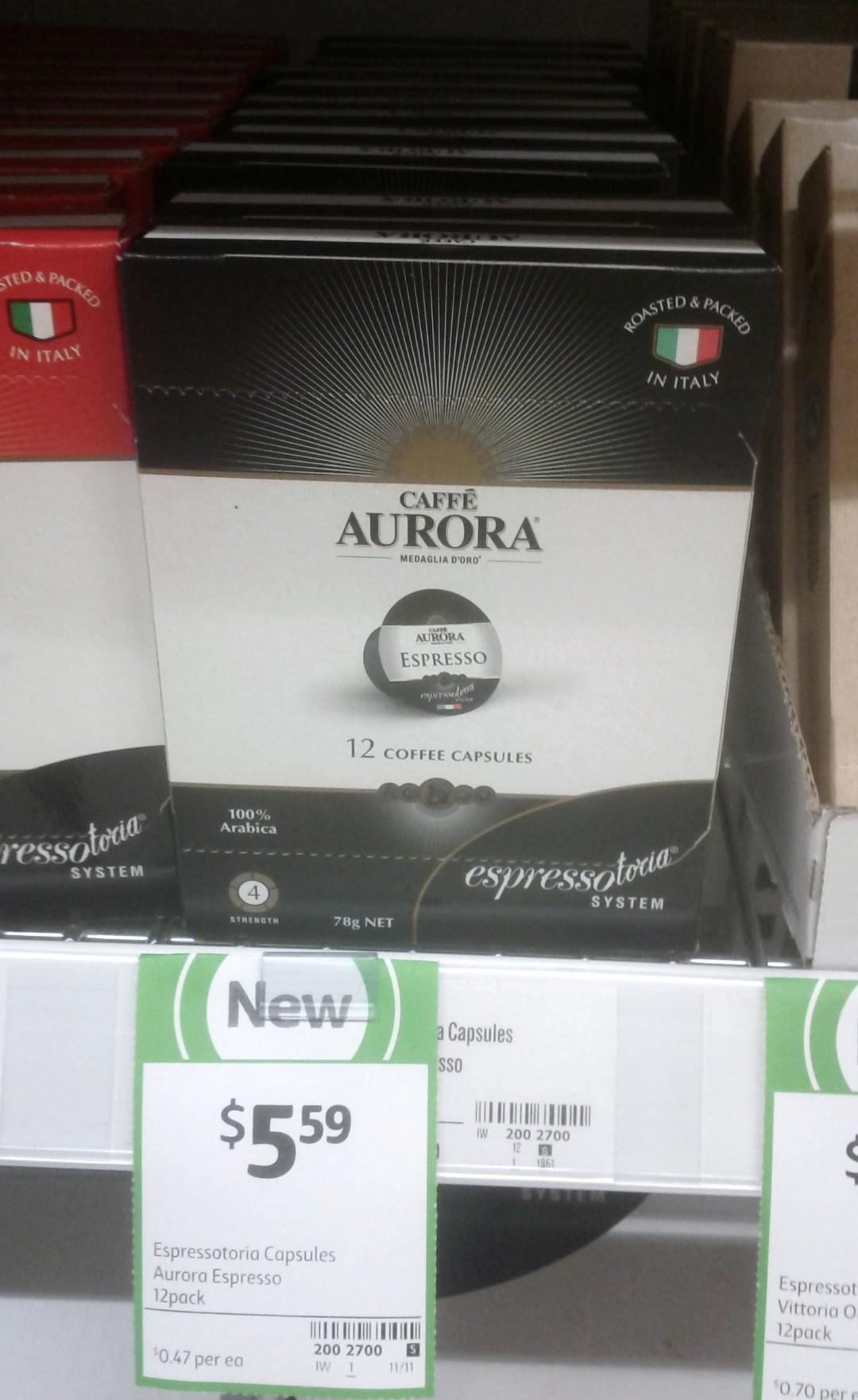 Espressotoria Capsules 78g Aurora Espresso