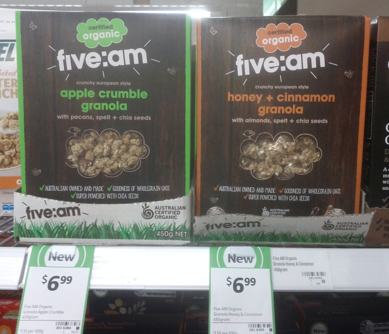 FiveAm 450g Apple Crumble Granola, Honey Cinnamon Granola