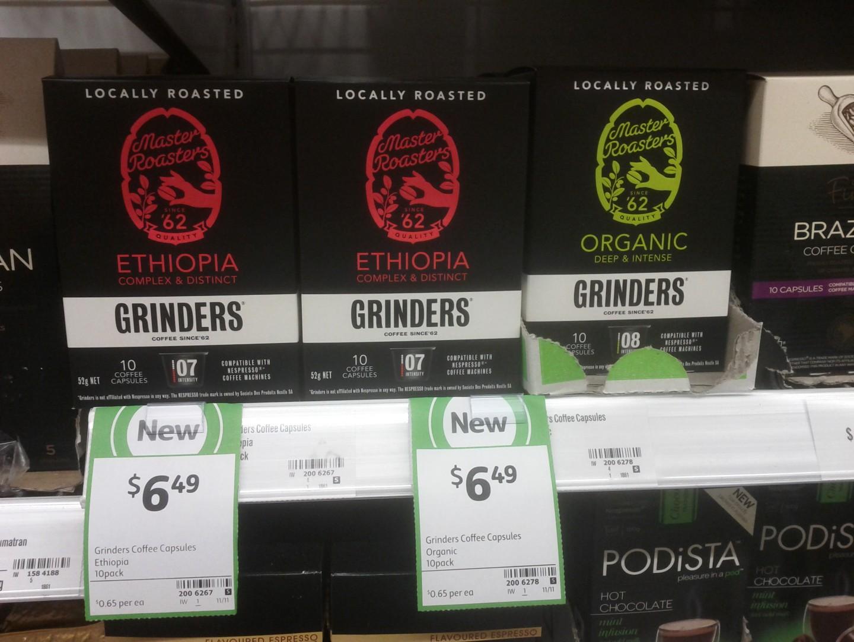 Grinders 52g Coffe Capsules Ethiopia, Organic