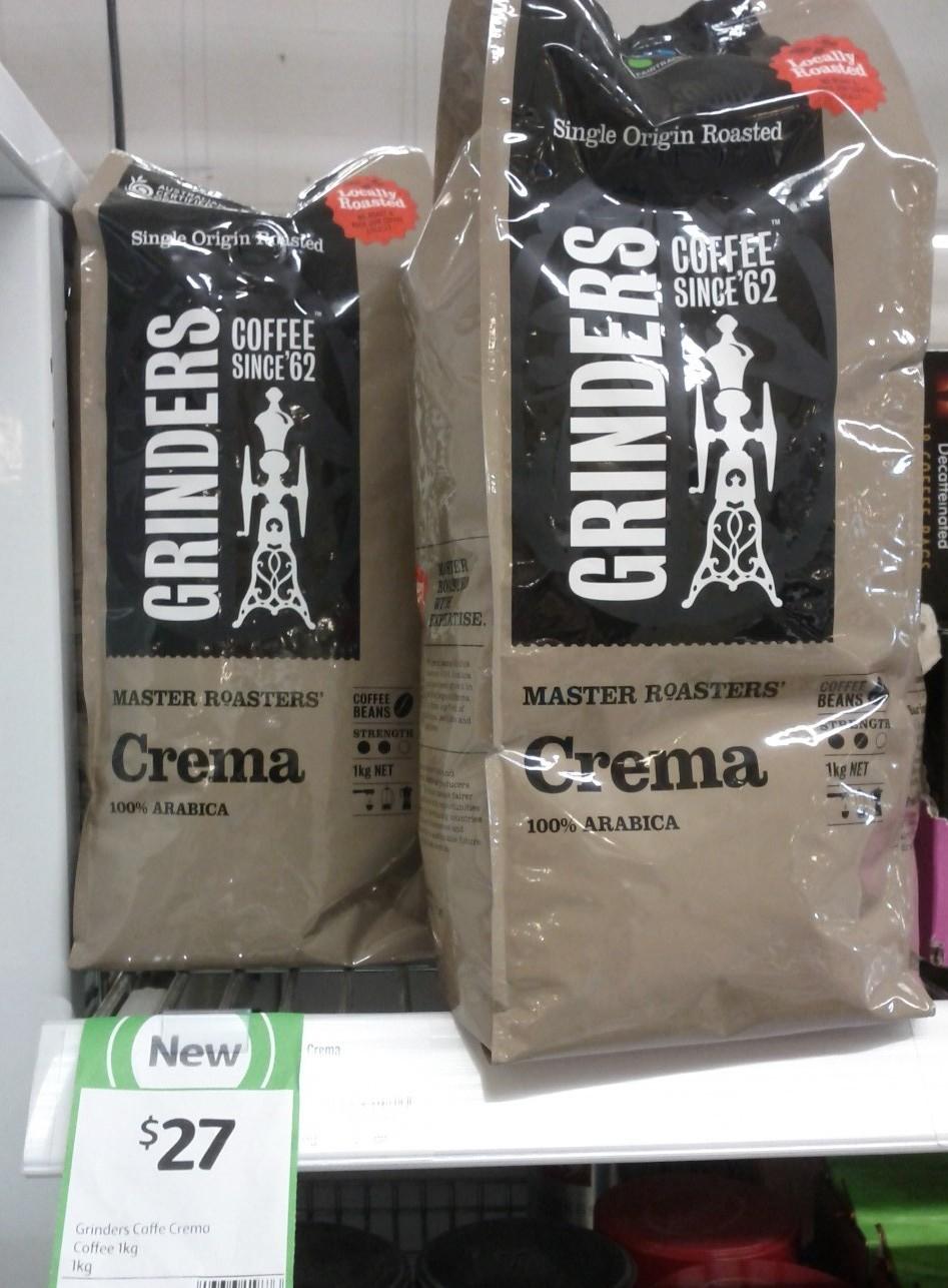 Grinders Coffee 1kg Crema