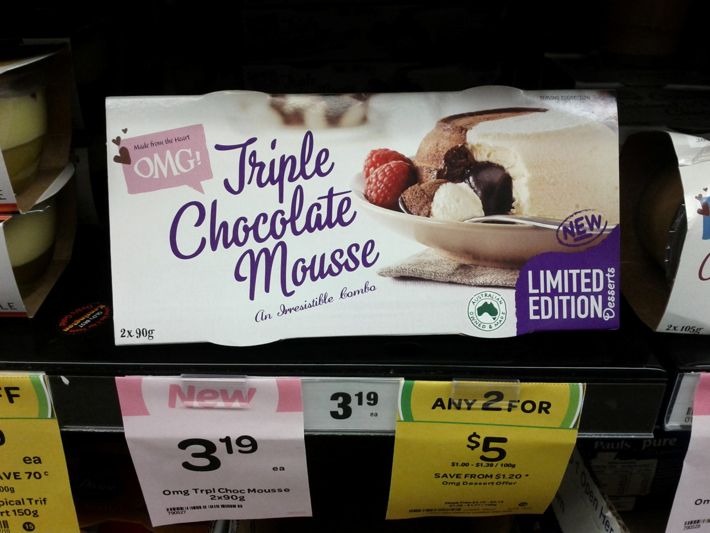 OMG 2x90g Triple Chocolate Mousse