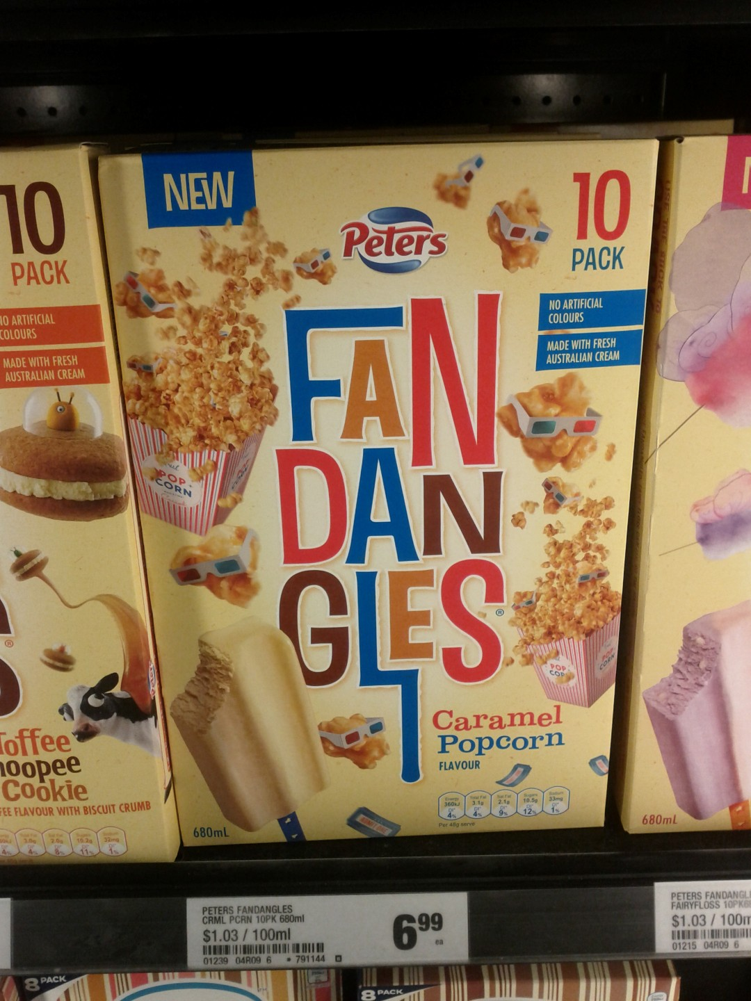 Peters 680mL Fandangles Caramel Popcorn