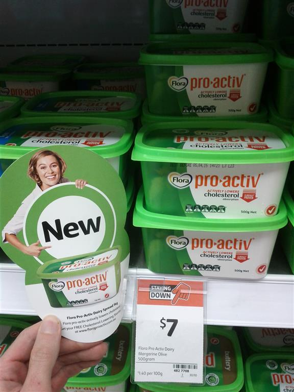 Flora 500g Pro Activ Dairy Margarine Olive