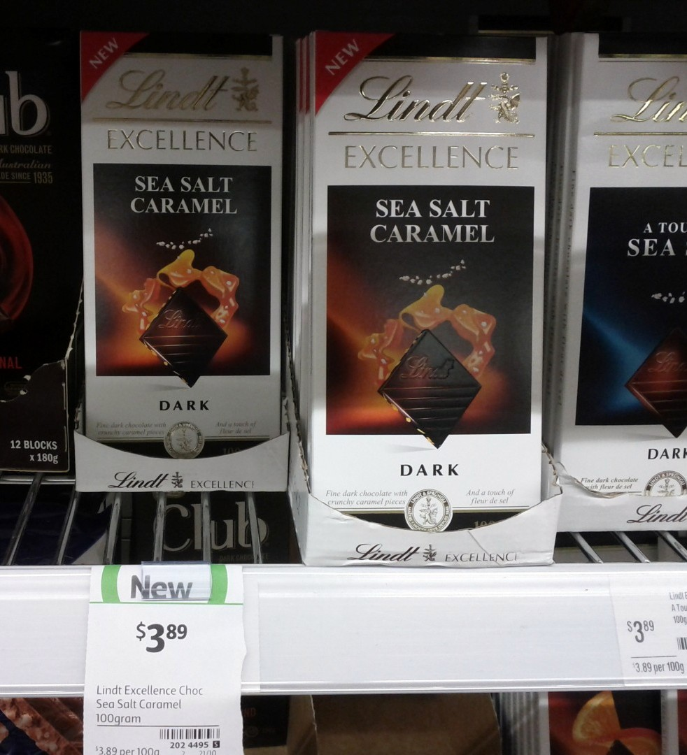 Lindt Excellence 100g Sea Salt Caramel