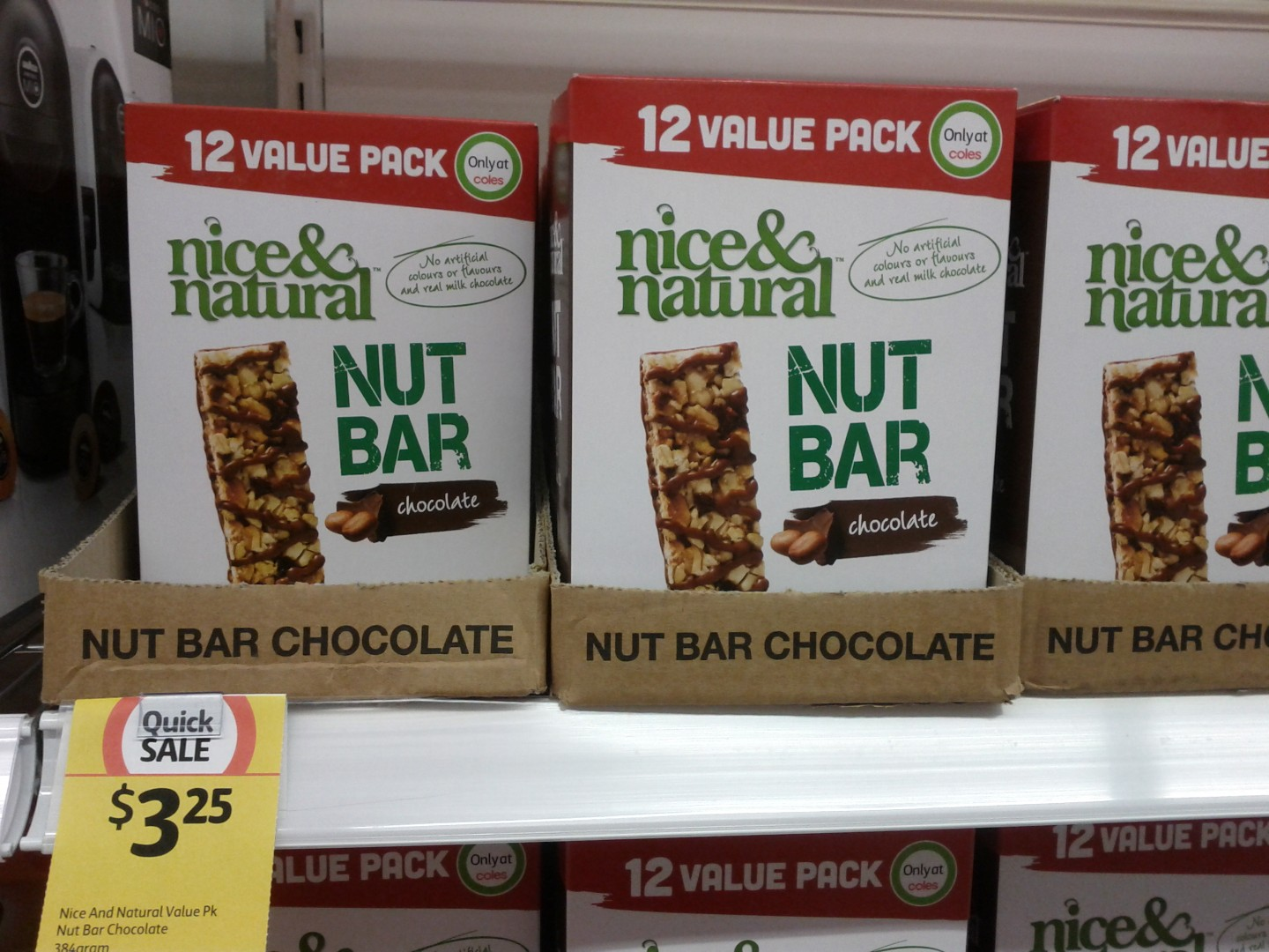 Nice & Natural 384g Nut Bar Chocolate