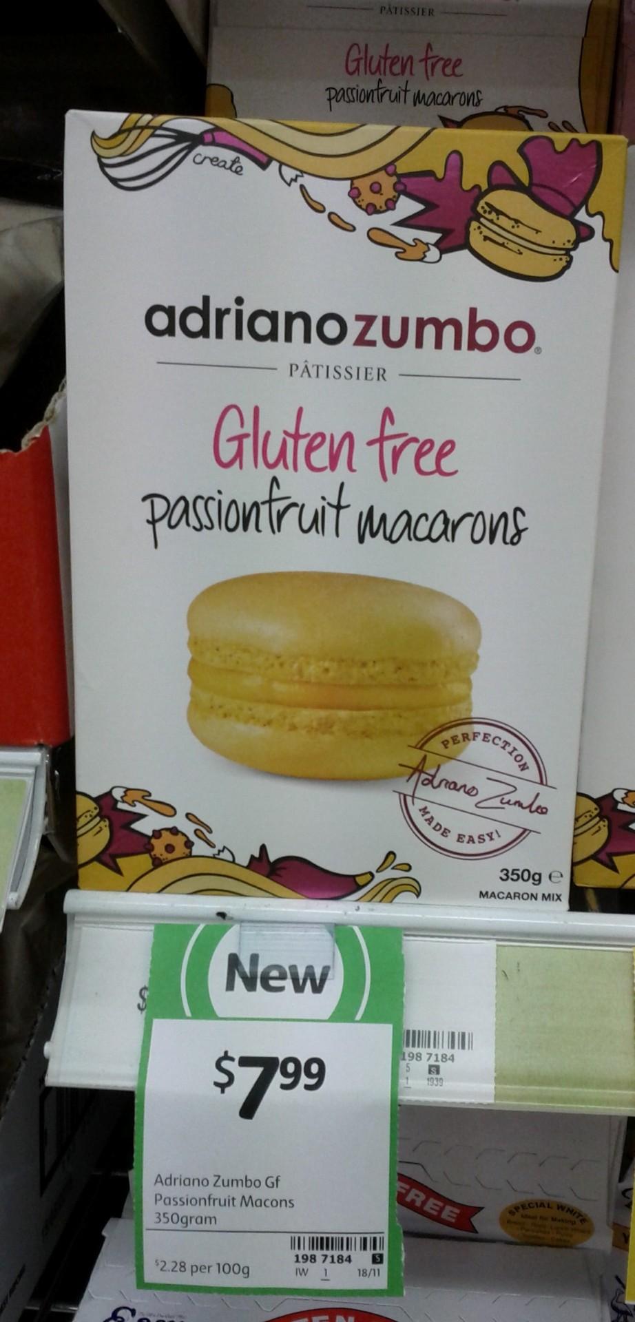 Adriano Zumbo 350g Gluten Free Passionfruit Macarons
