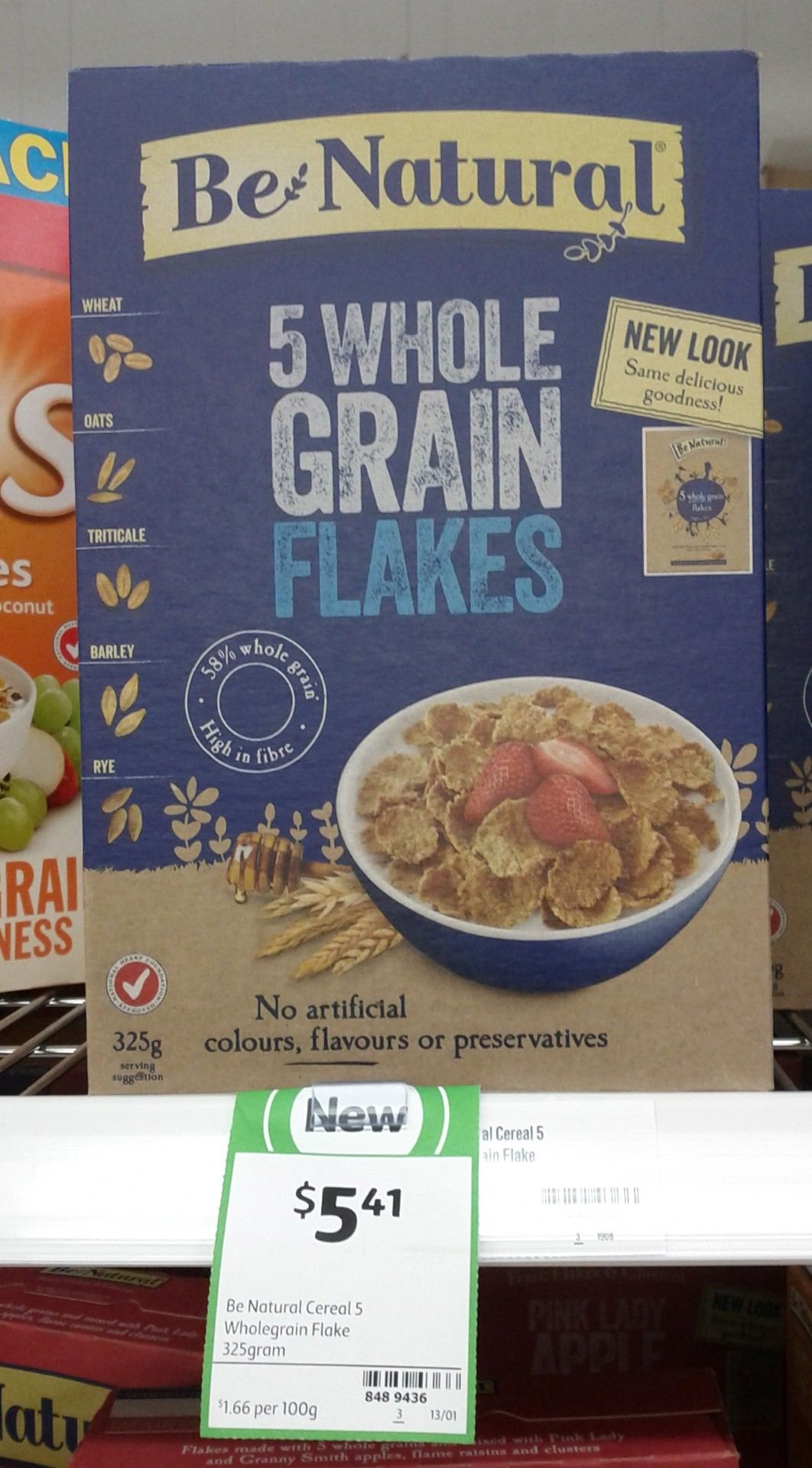 Be Natural 325g 5 Whole Grain Flakes