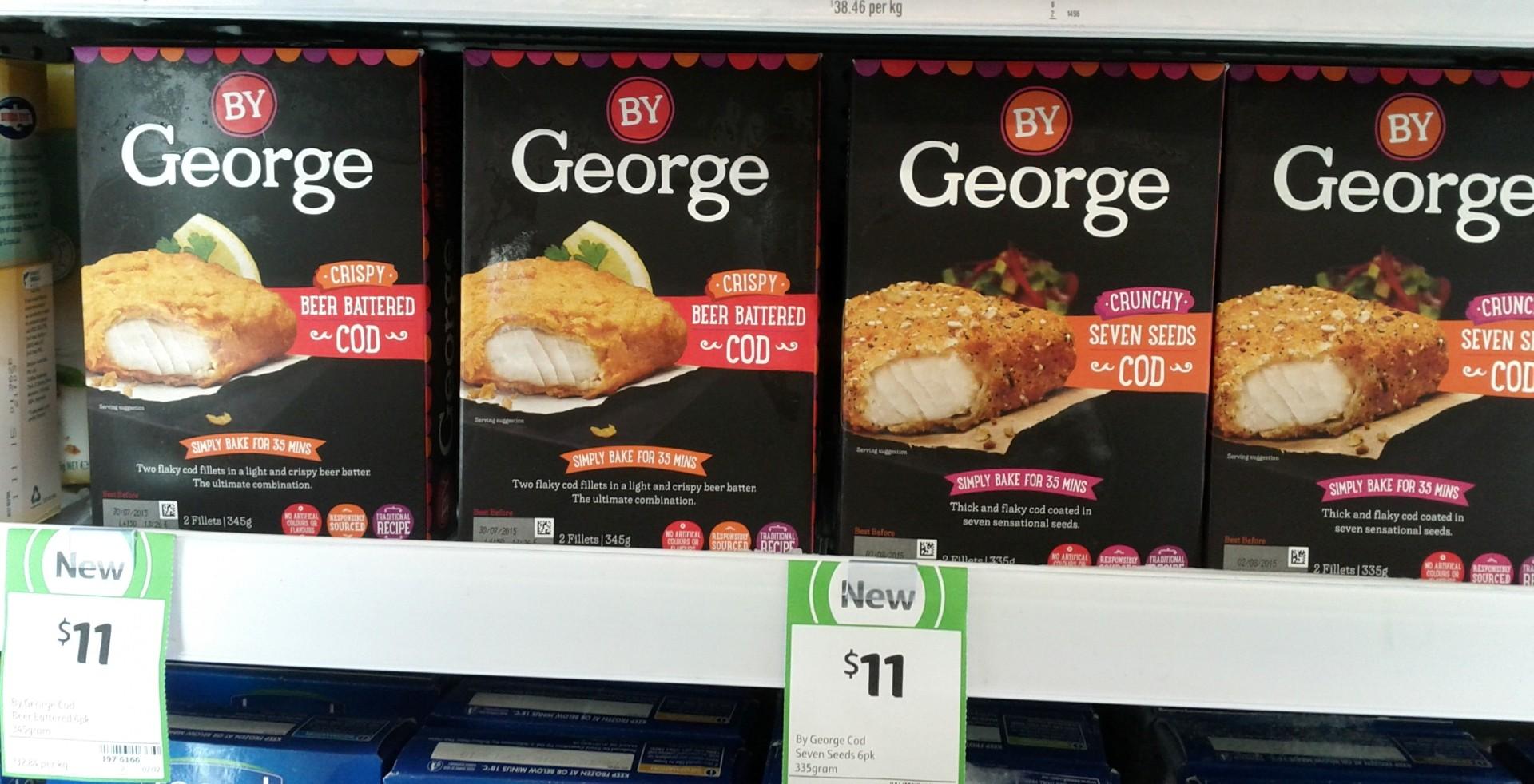 By George 335g Cod Crispy, Crunchy