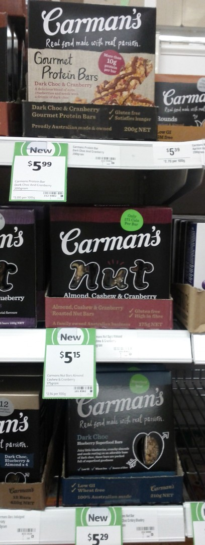 Carman's 200g Protein Bars, Nut, Dark Chocolate
