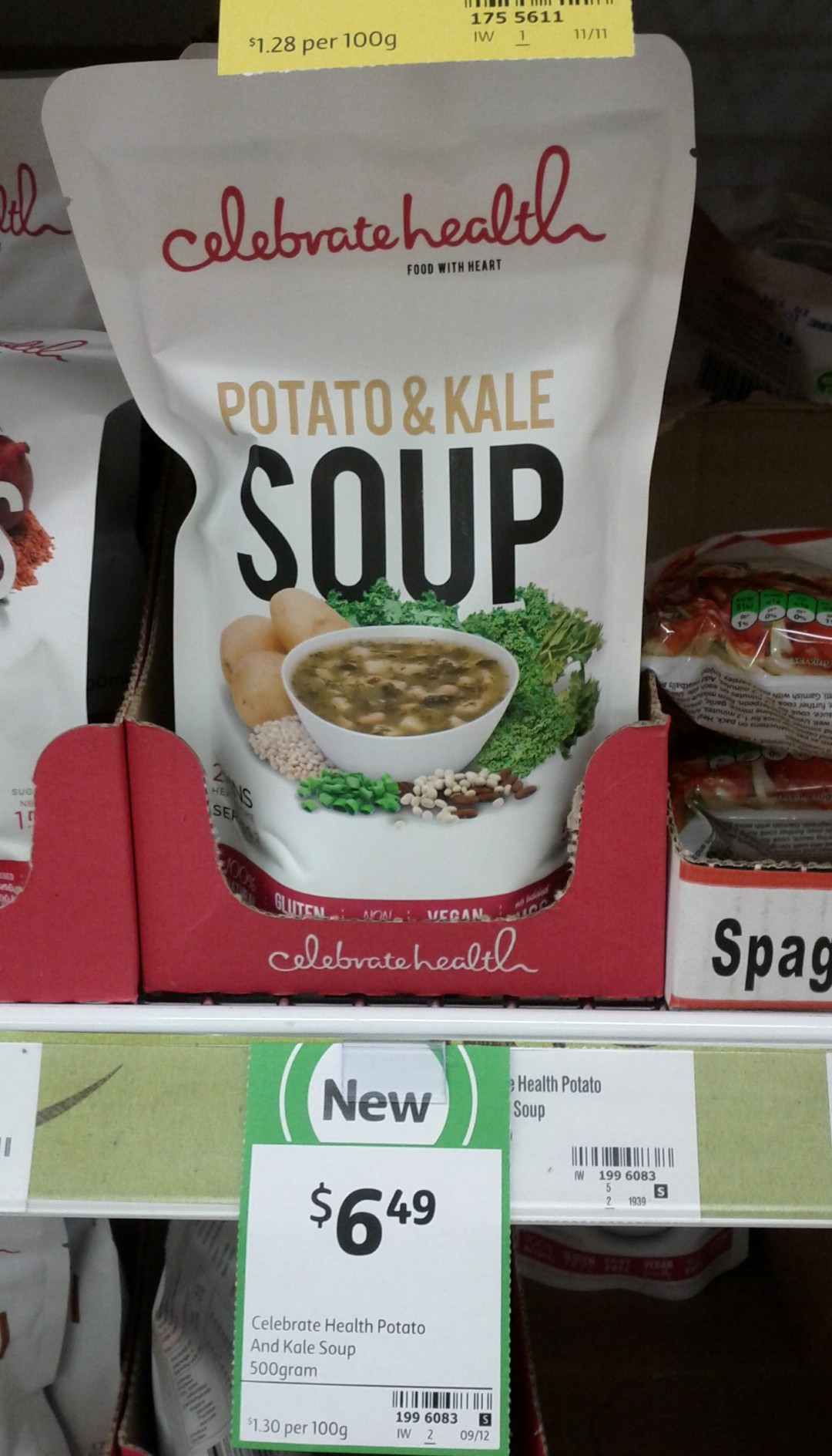 Celebrate Health 500g Potato & Kale Soup