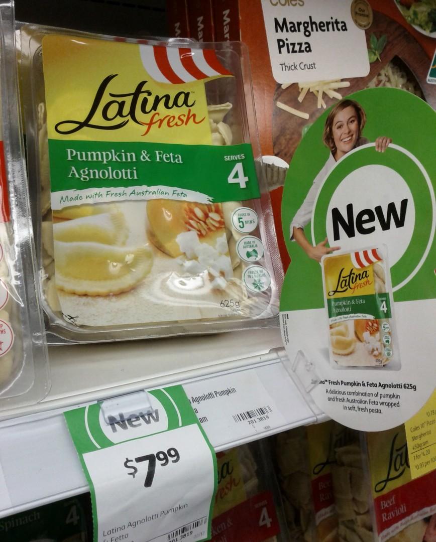 Latina Fresh 625g Pumpkin & Feta Agnolotti