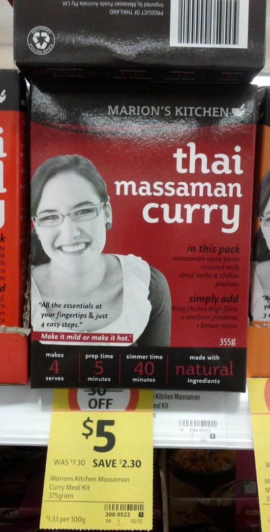 Marion's Kitchen 375g Thai Massaman Curry