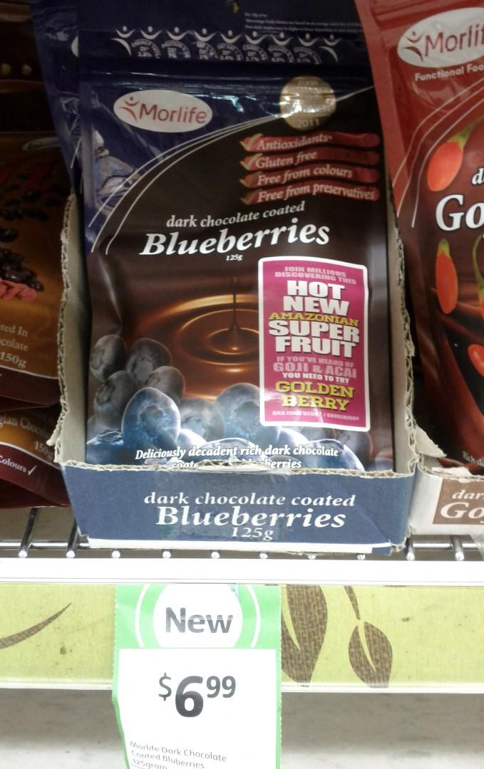Marlife 125g Dark Chocolate Coated Blueberries