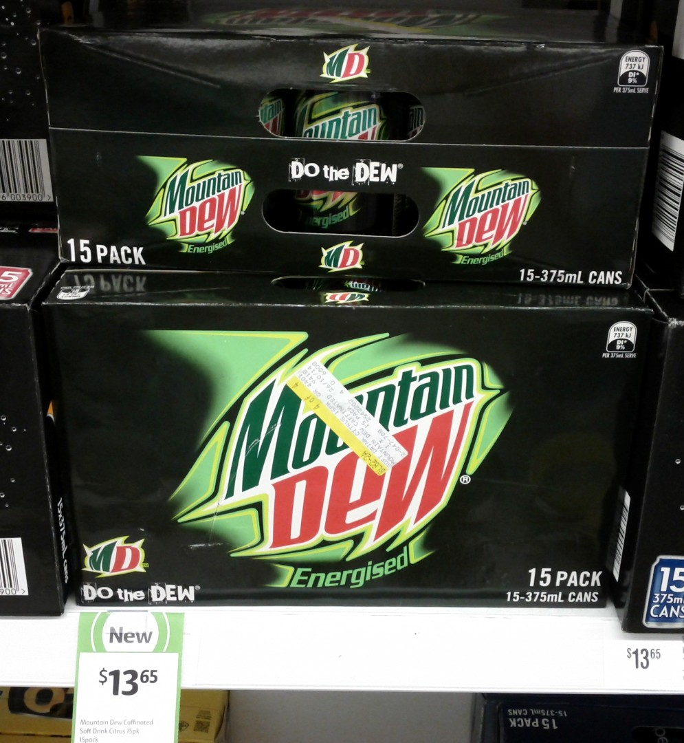 Mountain Dew 15x375mL Energised