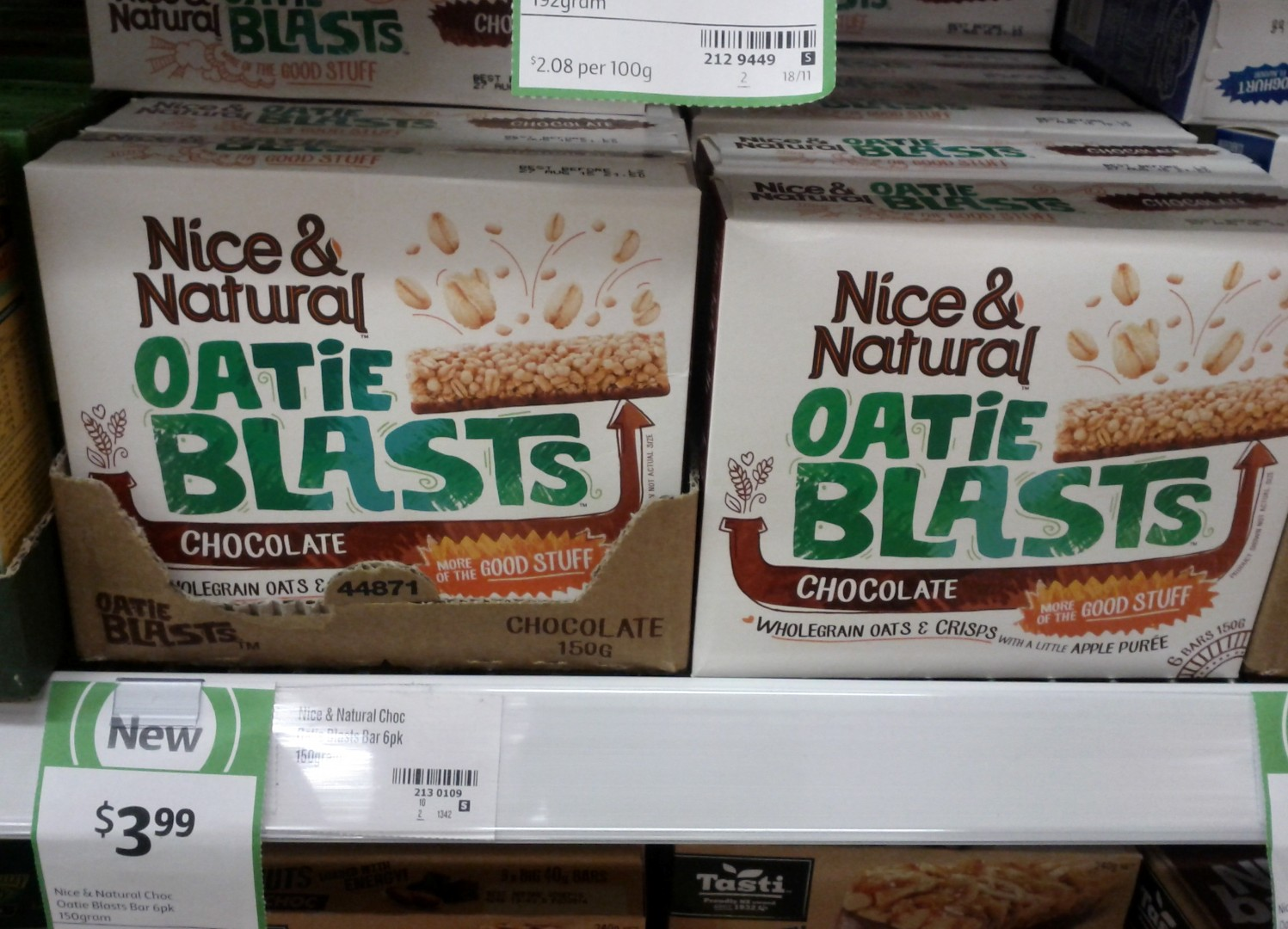 Nice & Natural 150g Oatie Blasts Chocolate