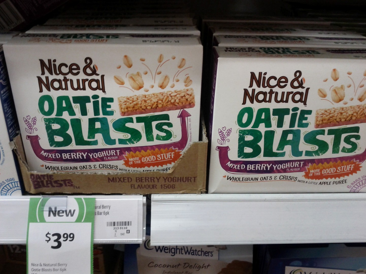 Nice & Natural 150g Oatie Blasts Mixed Yoghurt Flavour