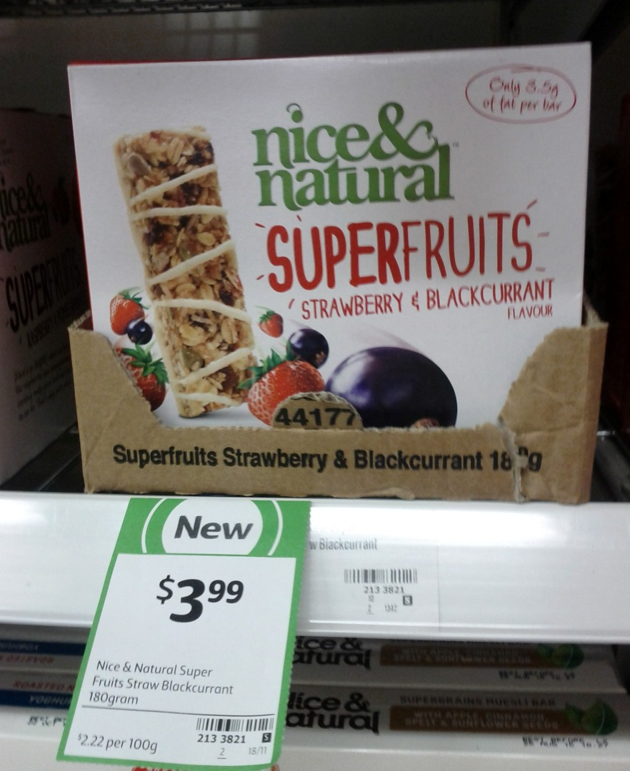 Nice & Natural 180g Superfruits Strawberry & Blackcurrant