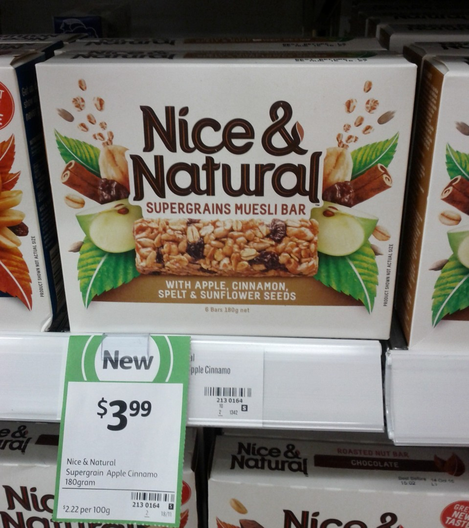 Nice & Natural 180g Supergrain Apple Cinnamon