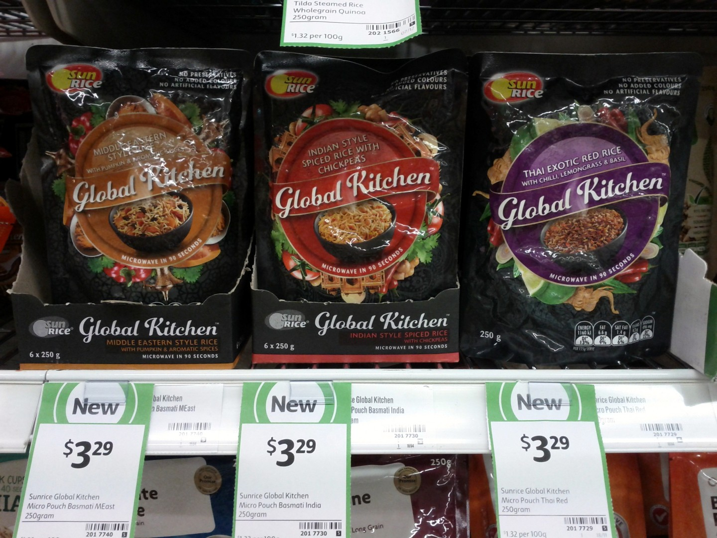 Sun Rice 250g Global Kitchen Middle Eastern, Indian, Thai Exotic