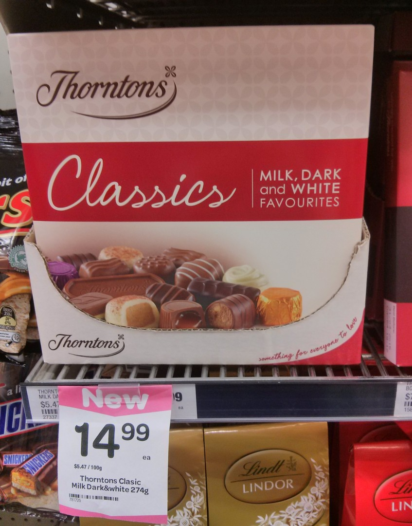 Thorntons 274g Classics Chocolate