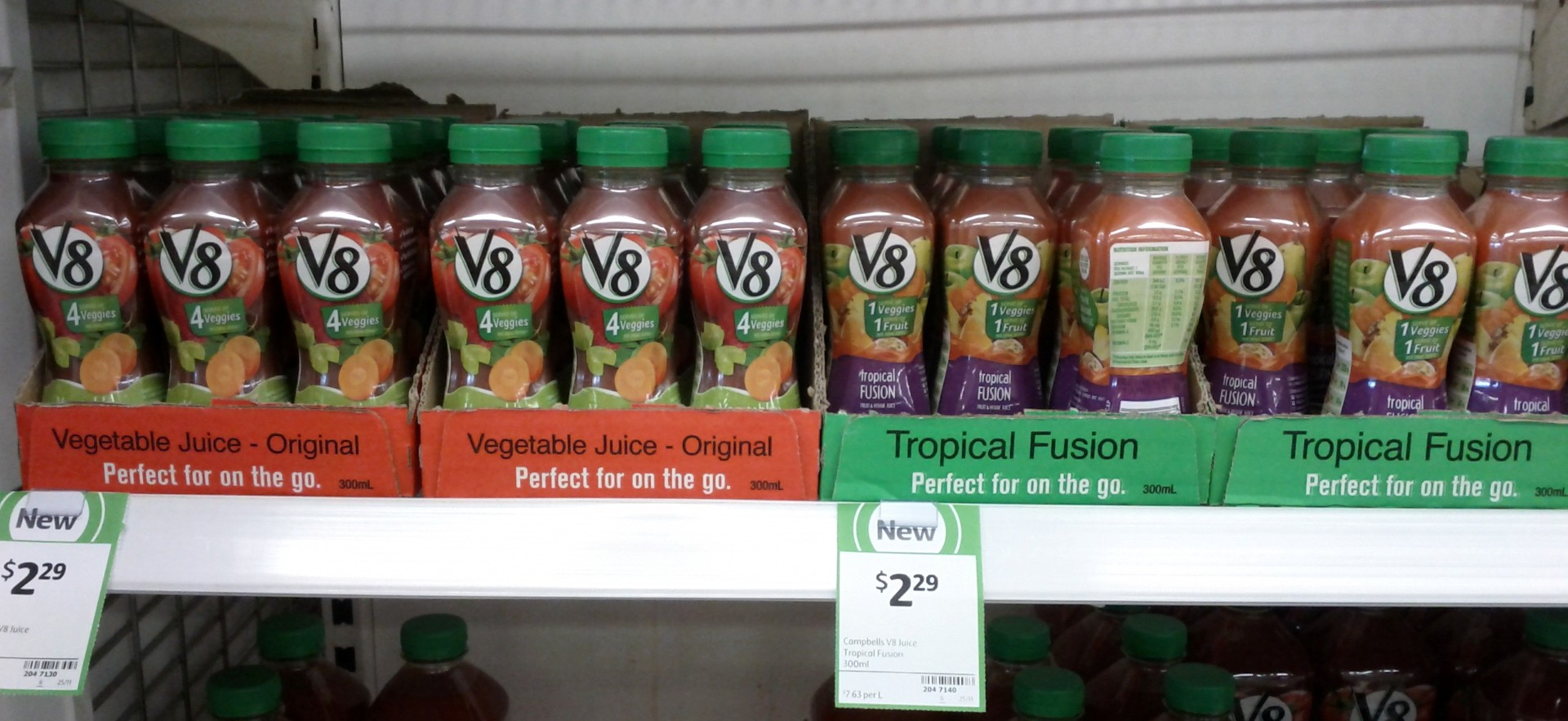 V8 300mL Vegetable Juice, Tropical Fusion