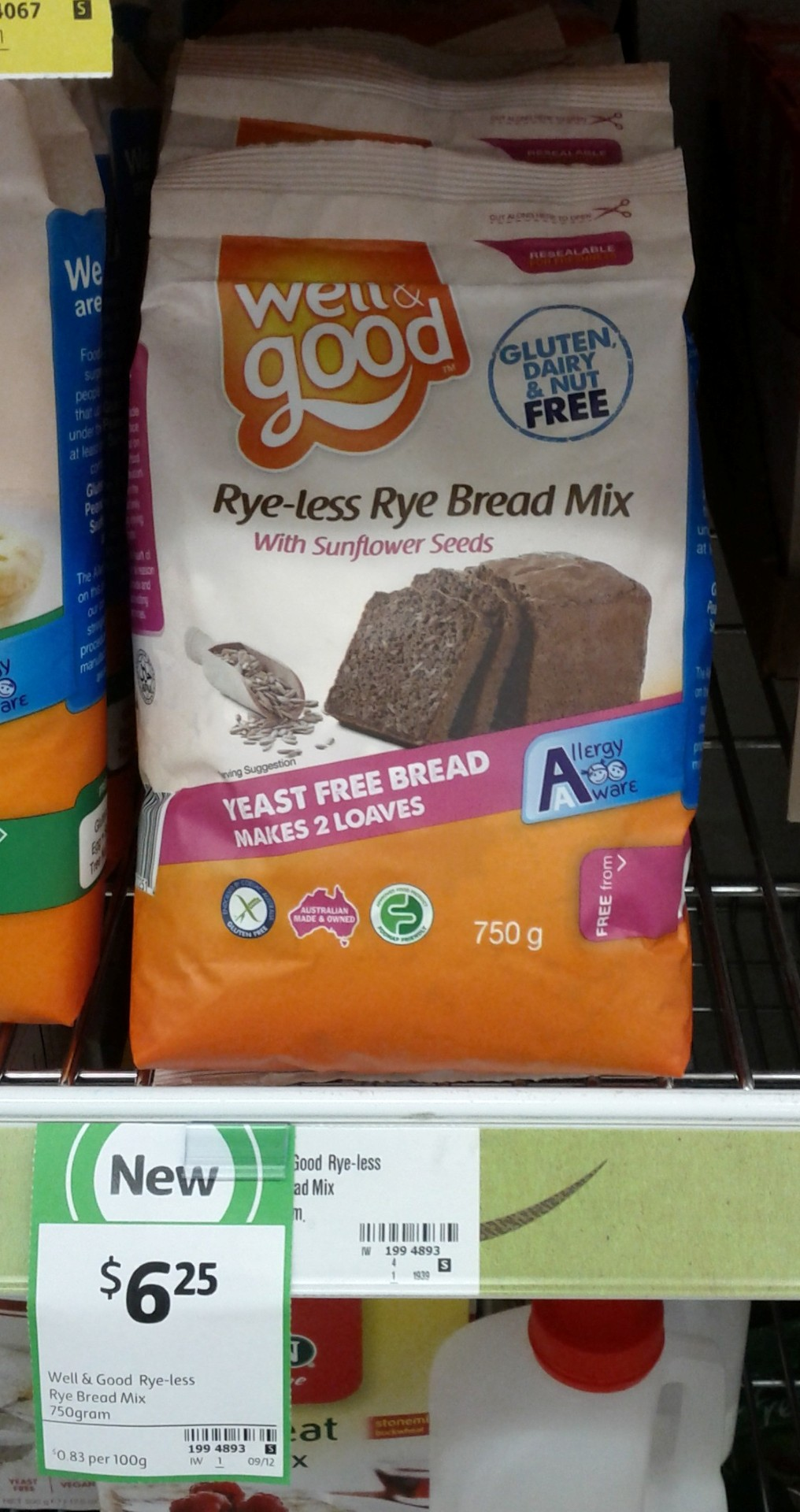 Well & Good 750g Rye-less Rye Bread Mix