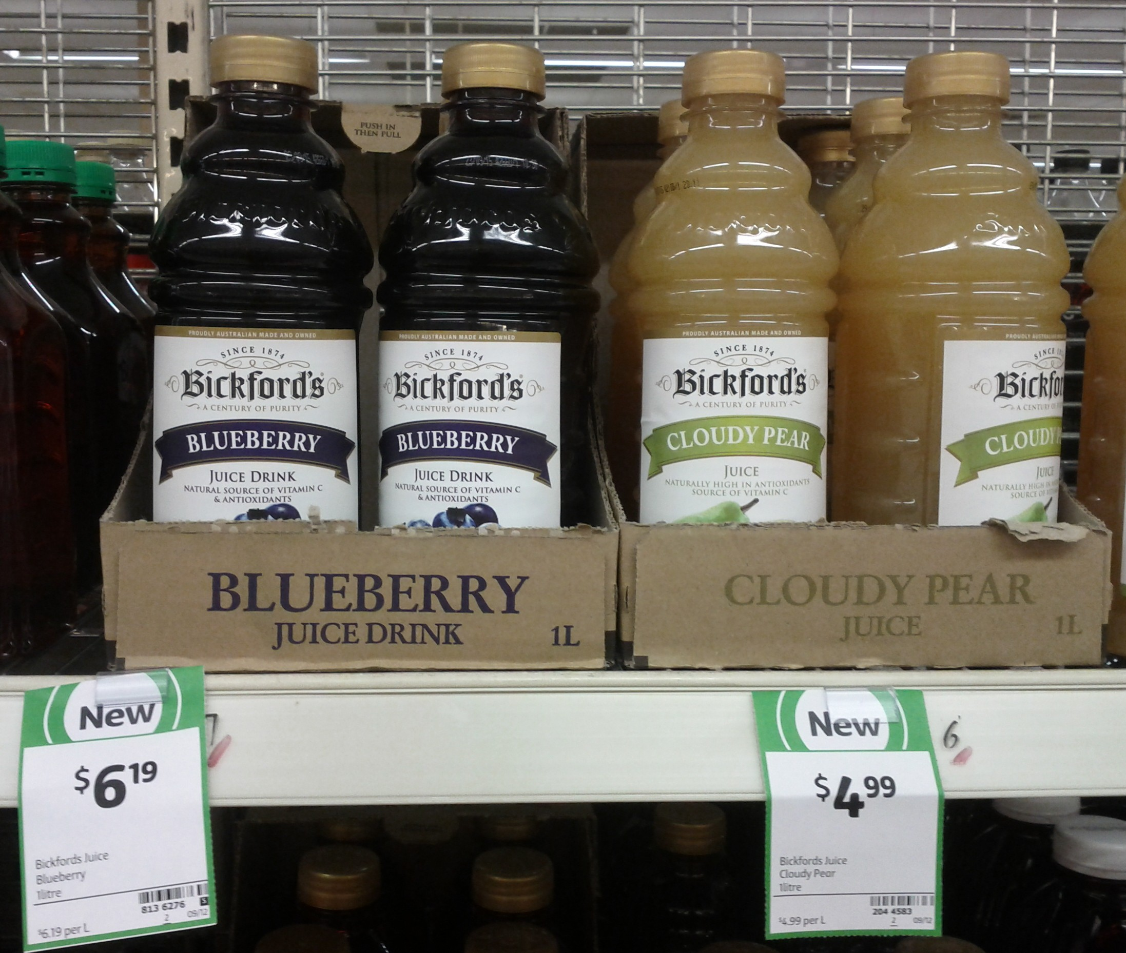 Bickford's 1L Blueberry, Cloudy Pear