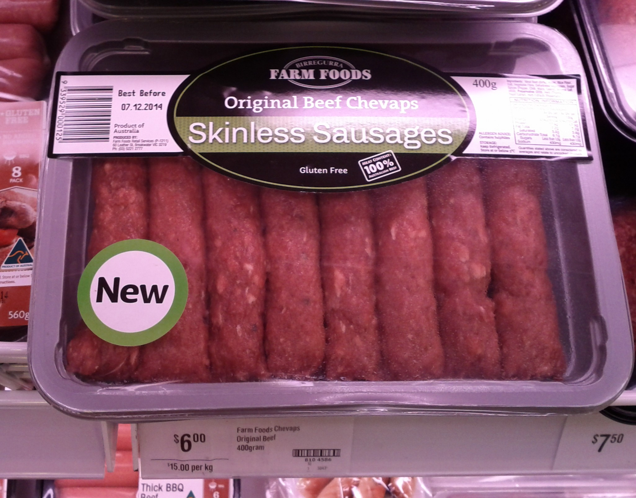 Farm Foods 400g Skinless Sausages