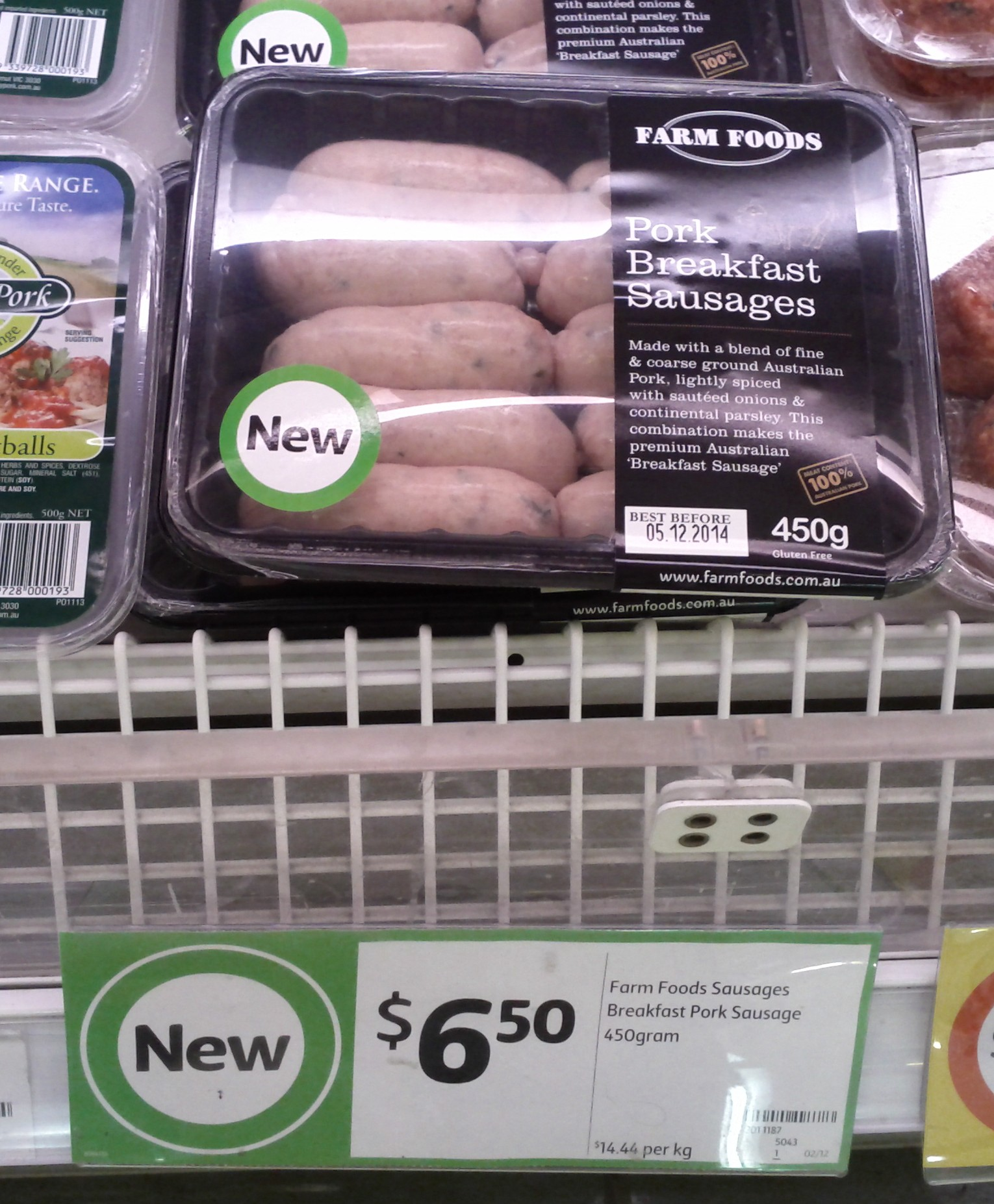 Farm Foods 450g Pork Breakfast Sausages