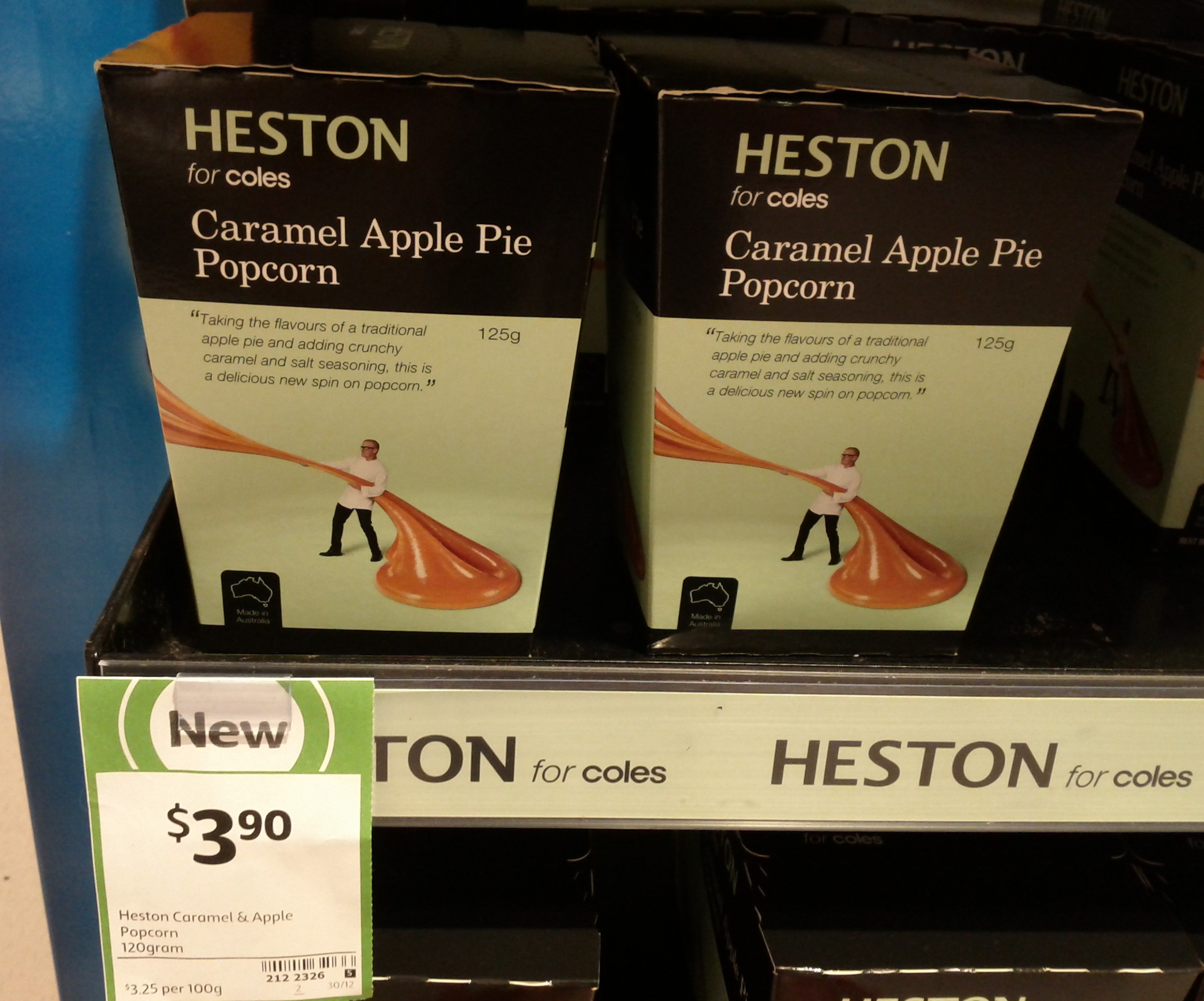 Heston 120g Caramel & Apple Popcorn