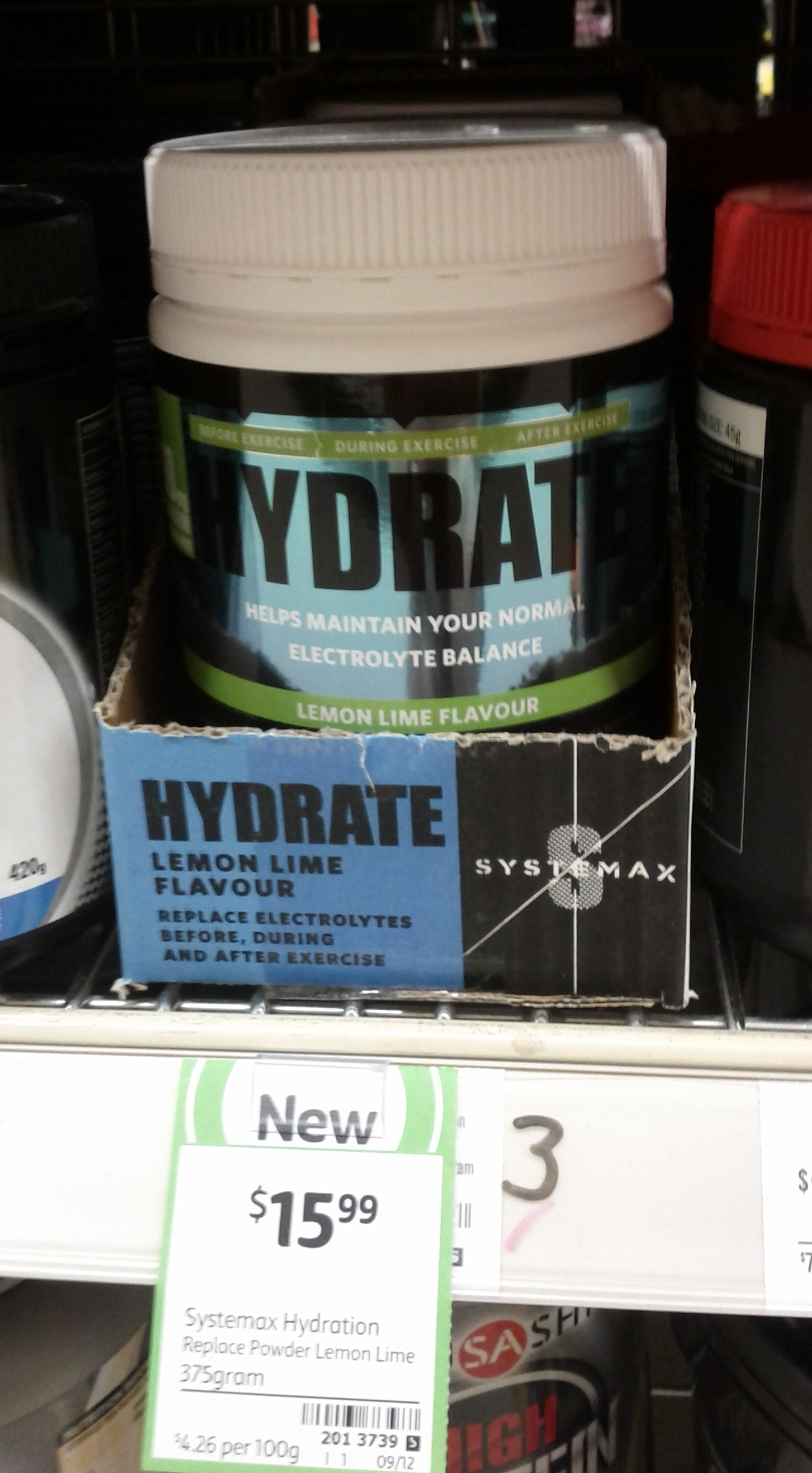 Systemax Hydration 375g Lemon Lime Flavour