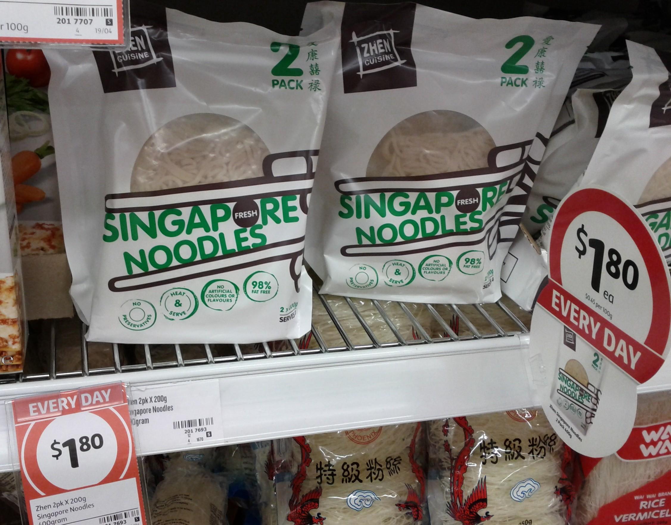 Zhen 2x200g Singapore Noodles