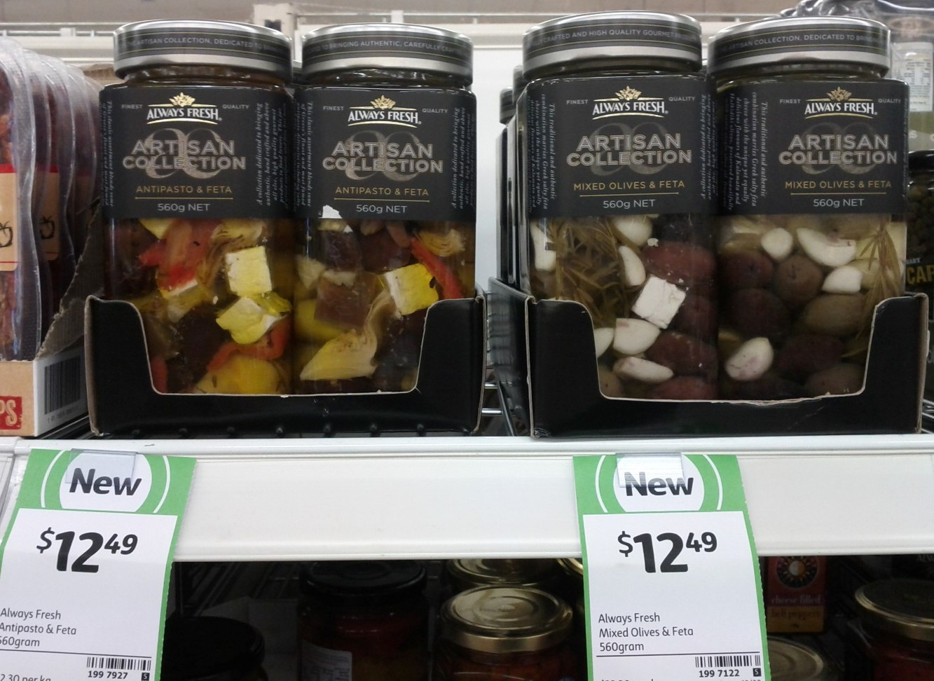 Always Fresh 560g Artisan Collection Antipasto & Feta, Mixed Olives & Feta