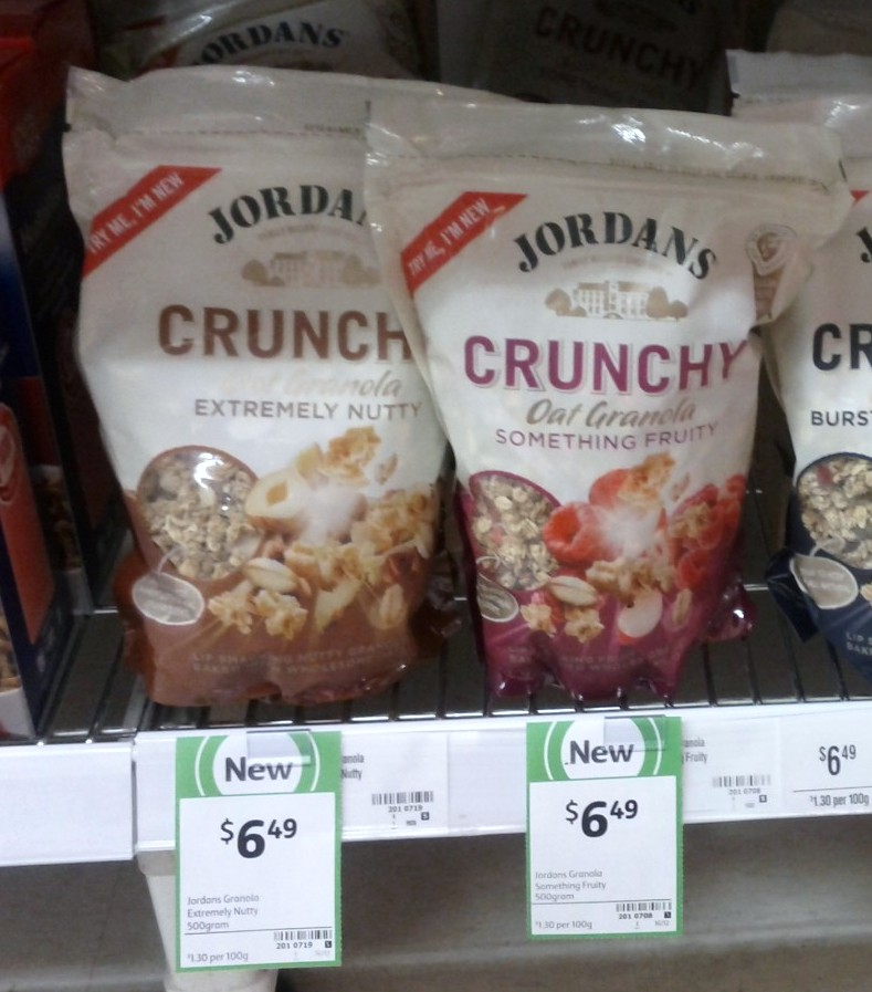 Jordans 500g Oat Granola Extremely Nutty, Something Fruity