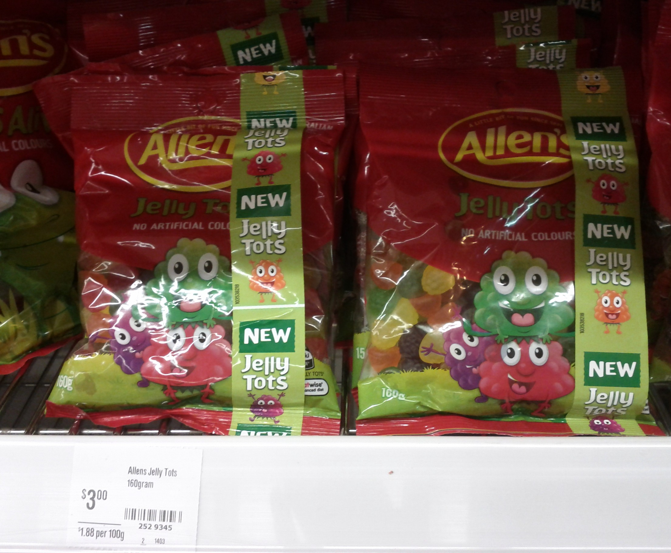 Allens 160g Jelly Tots