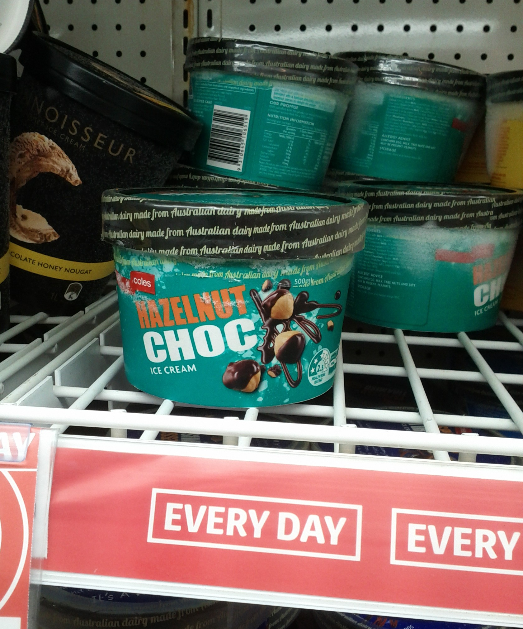 Coles 500mL Hazelnut Choc Ice Cream
