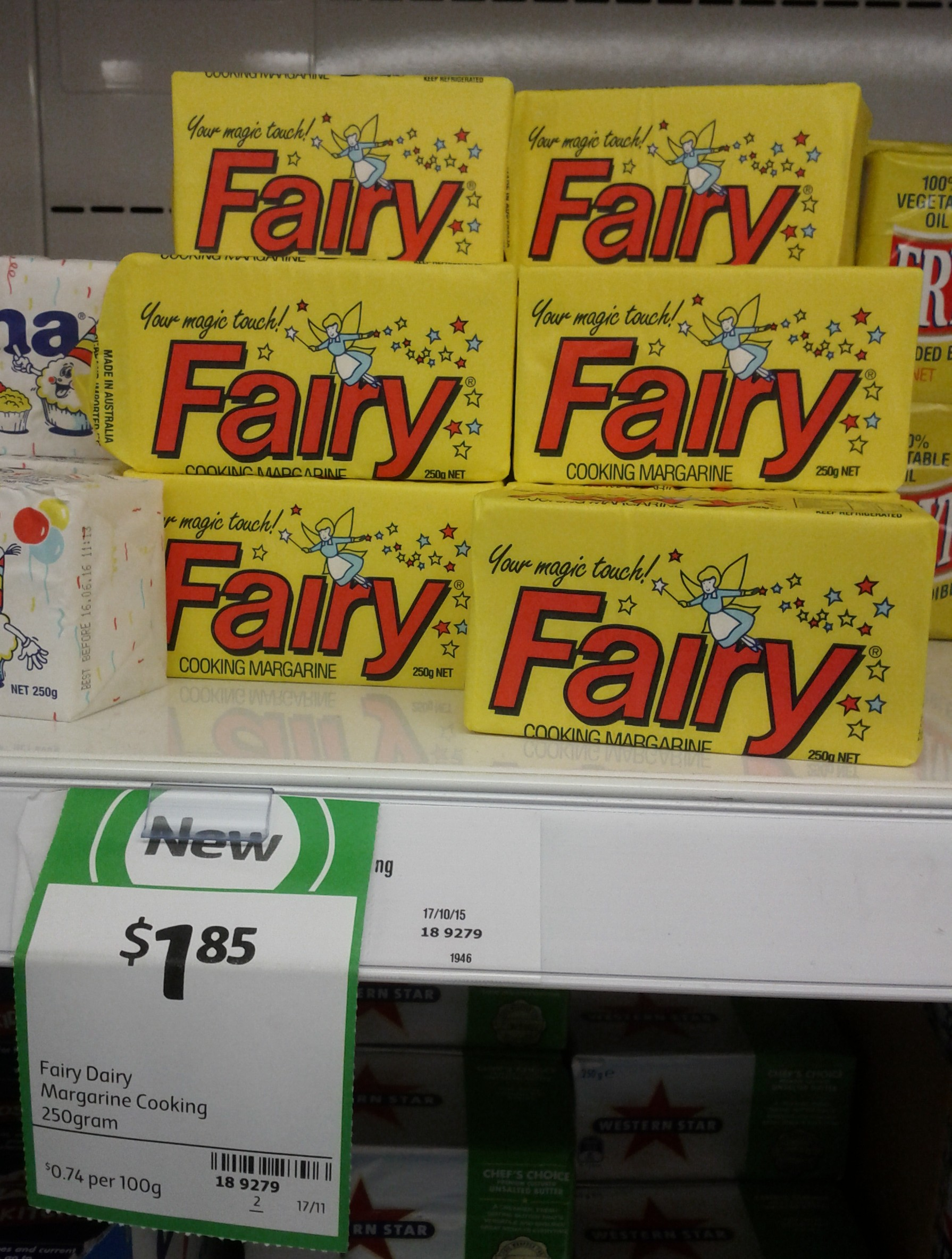 Fairy Dairy 250g Cooking Margarine