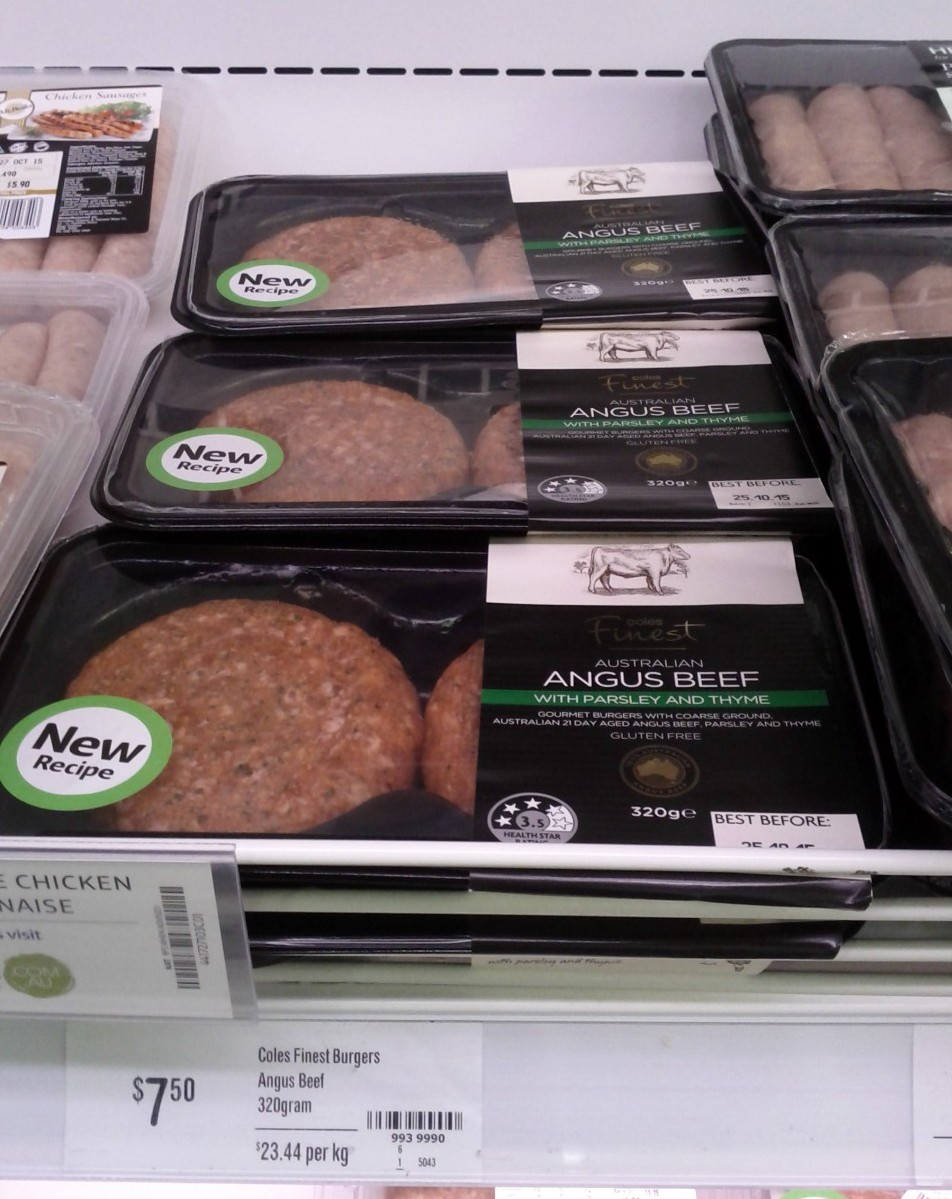 Coles Finest Burgers 320g Angus Beef with Parsley and Thyme