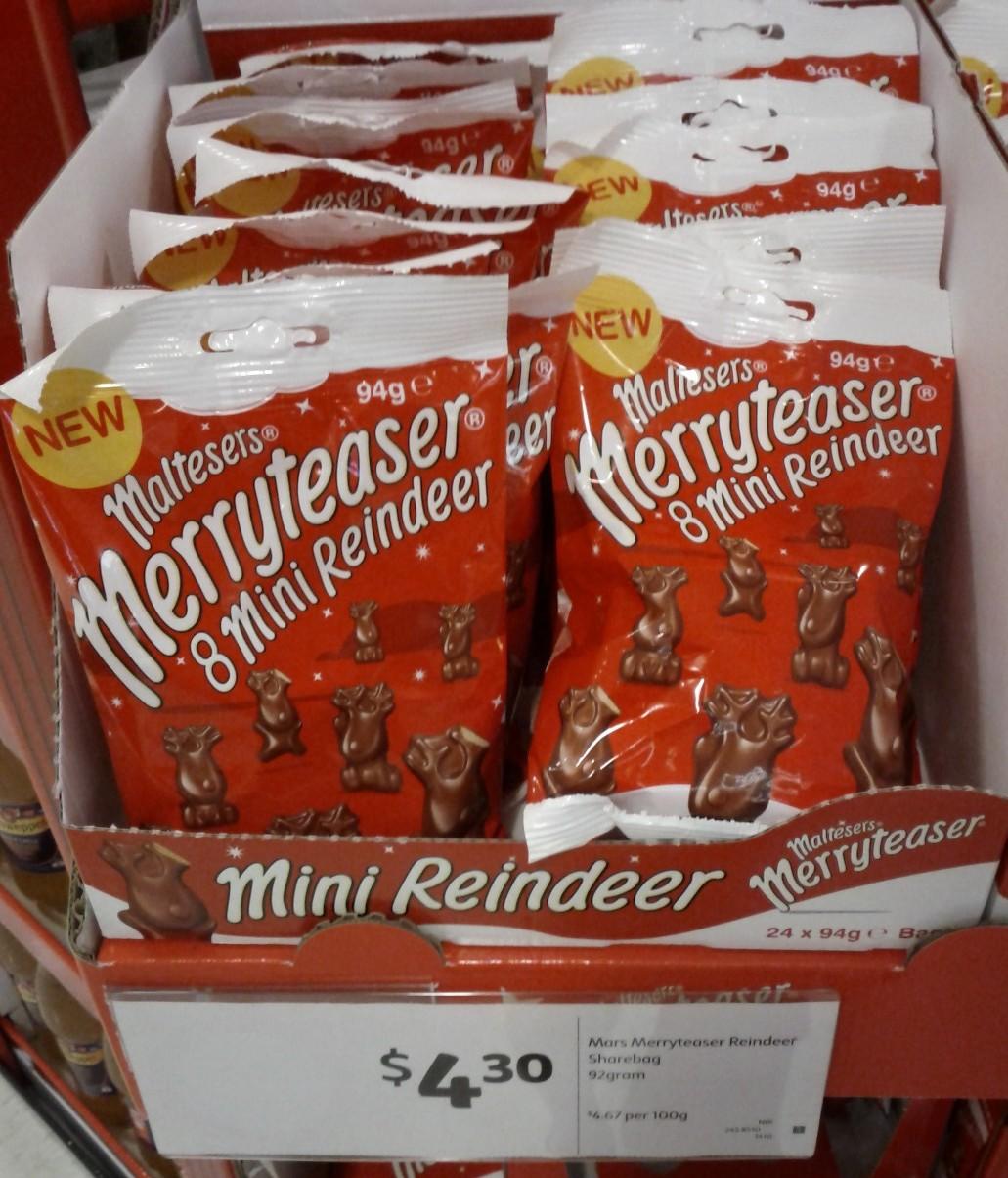 Mars Maltesers 92g Merryteaser Reindeer