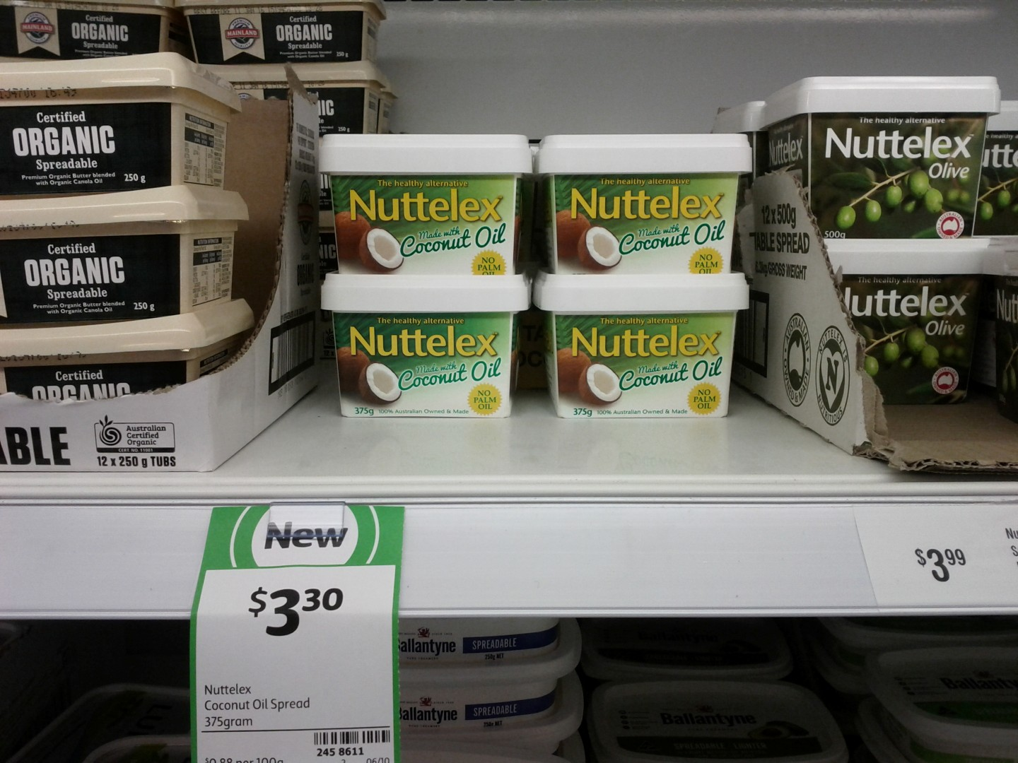 Nuttelex Spread 375g Coconut Oil