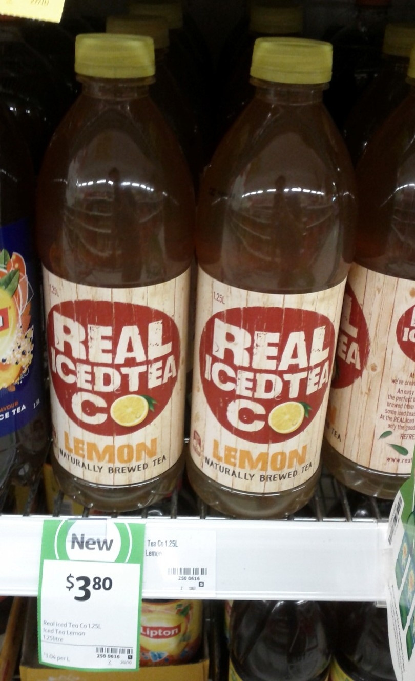 Real Iced Tea Co 1.25L Lemon