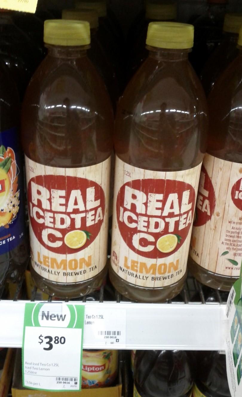 Real Iced Tea Co 1.25L Lemon