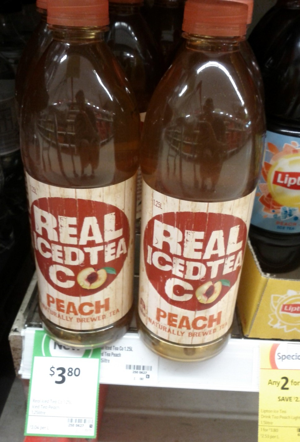 Real Iced Tea Co 1.25L Peach