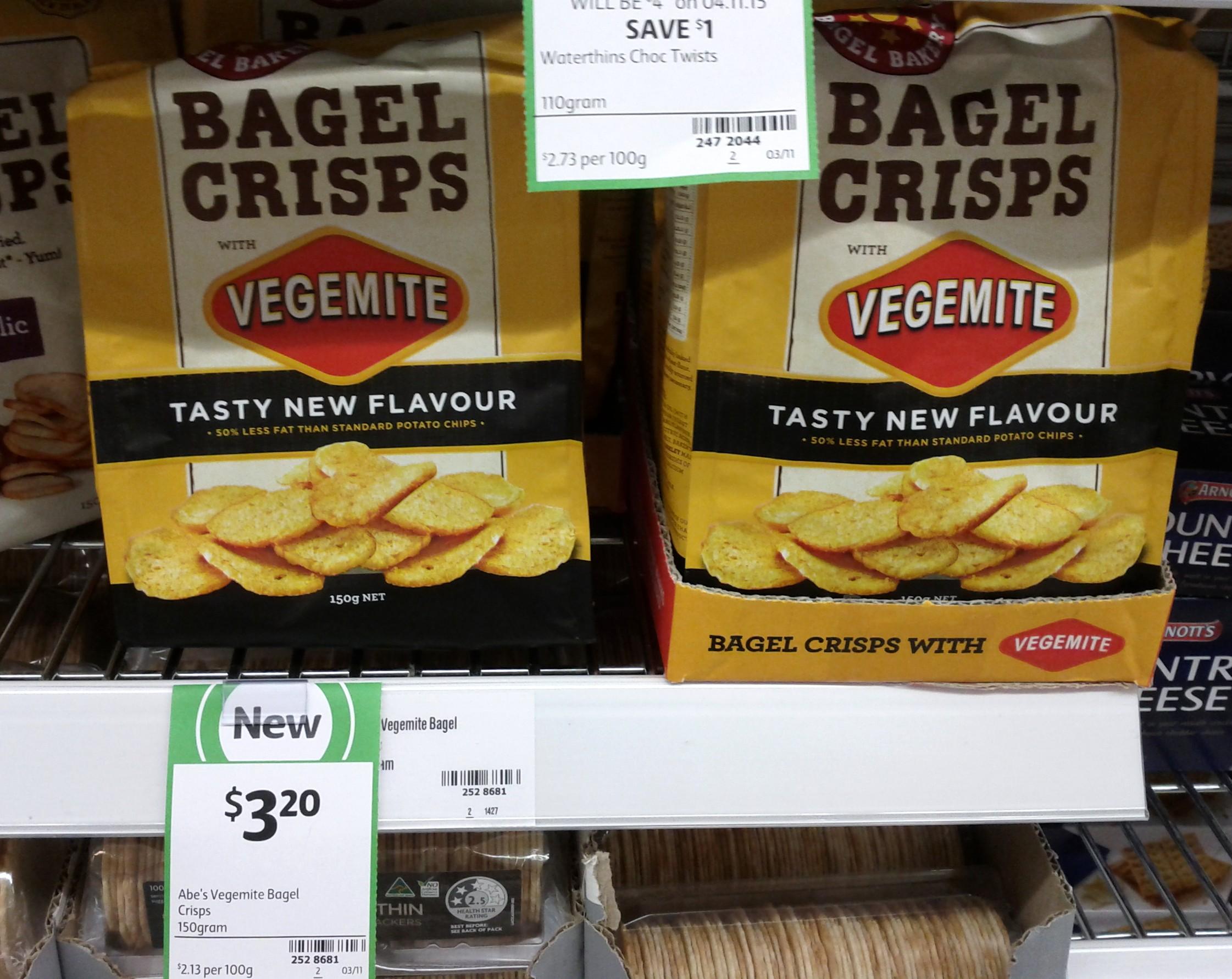 Abe's Bagel Crisps 150g Vegemite