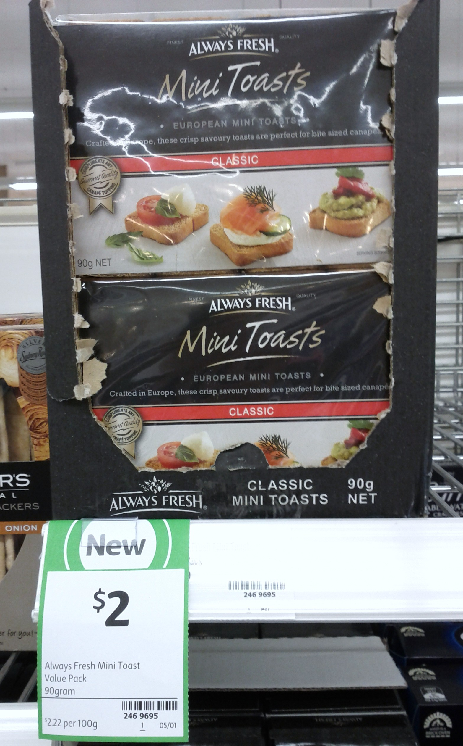 Always Fresh 90g Mini Toasts Classic
