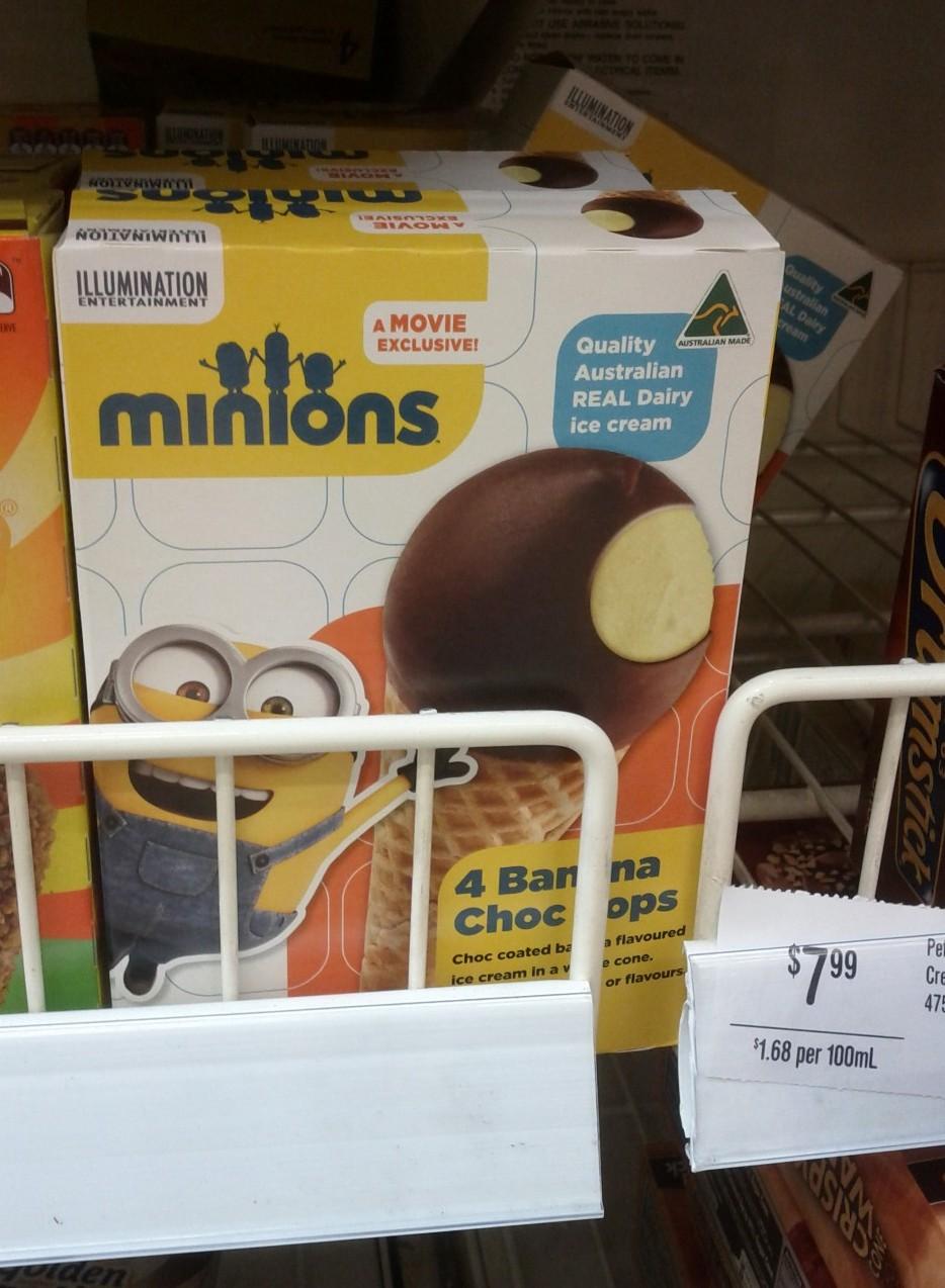 Choc Tops Minions