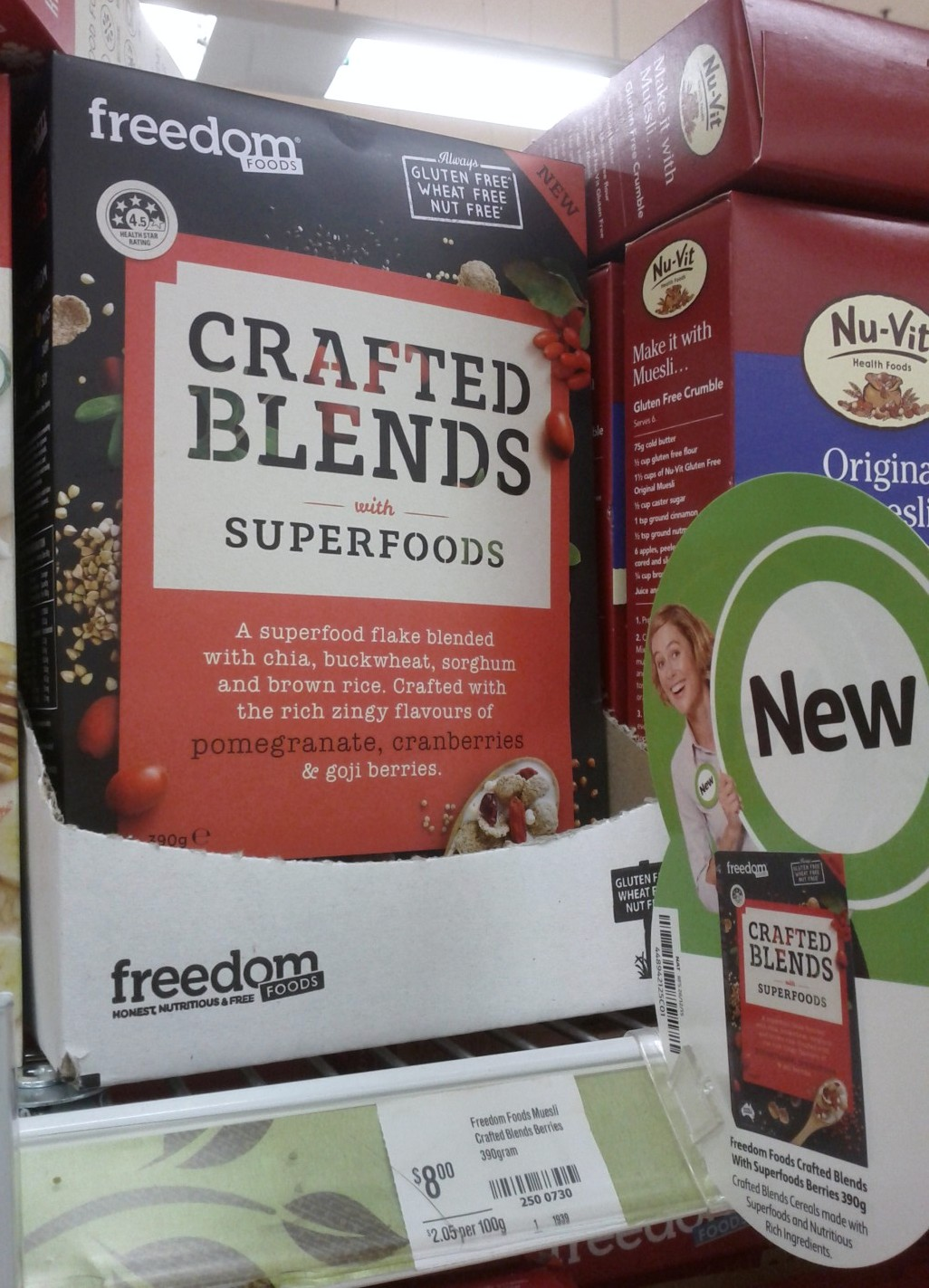Freedom Foods 390g Crafted Blends with Superfoods